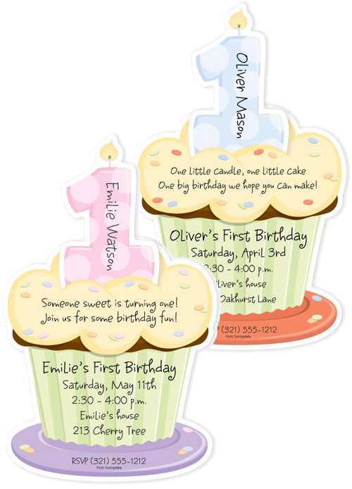 First Cupcake - Diecut Invitation / Mail out a cupcake as your invitation
