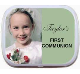 First Communion Photo Mint Tin