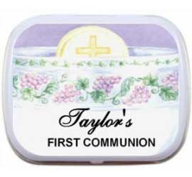 First Communion Mint Tin, Wine Theme