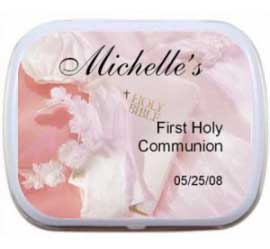 First Communion Pink Theme Mint Tin
