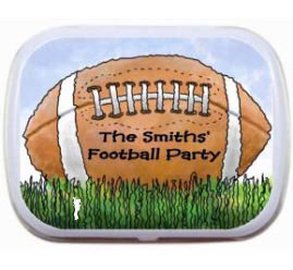 Football Bash Party Mint Tin / Perfect for any football party.