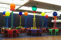 Graduation balloon centerpieces