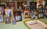 Graduation centerpiece photo display