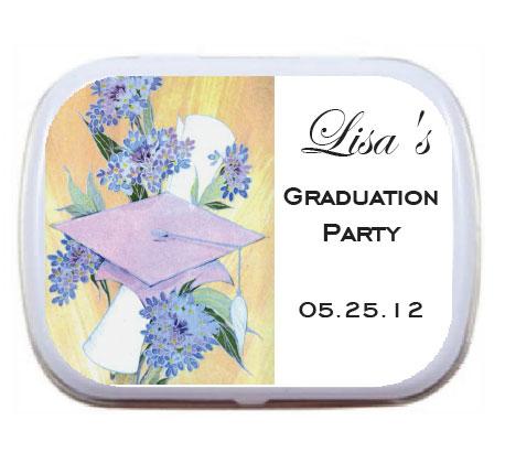 Graduation Mint Tin, Flowers