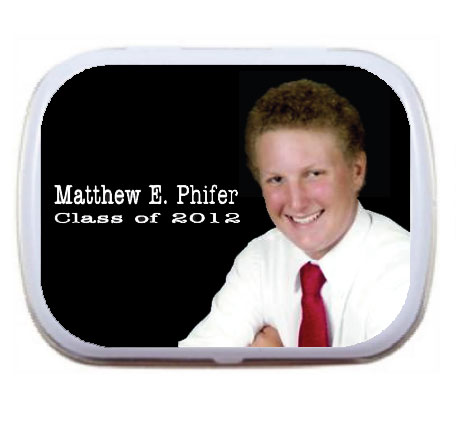 Custom Mint Tin, Graduation Photo