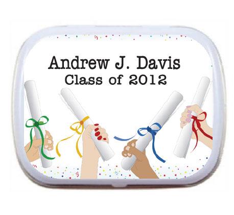 Graduation Mint Tin, Diplomas