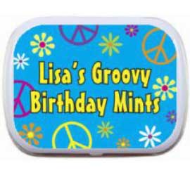 Hippie Retro Mint and Candy Tin / Hippies love a good party favor