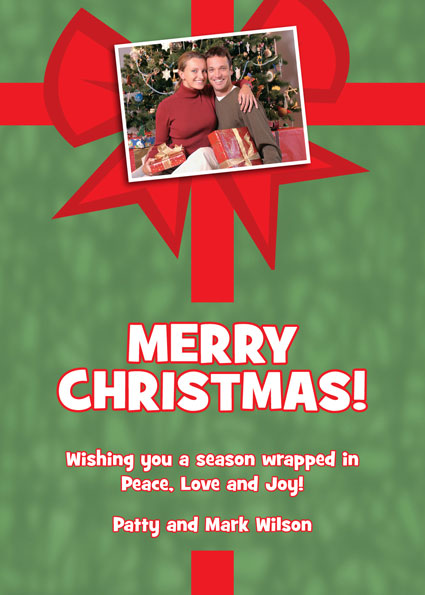 Christmas Photo Theme Holiday Card / This Christmas card is wrapped specially for your guests.