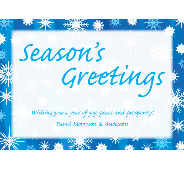 Winter Snow Theme Holiday Card / This winter snow holiday card is perfect for any crowd.