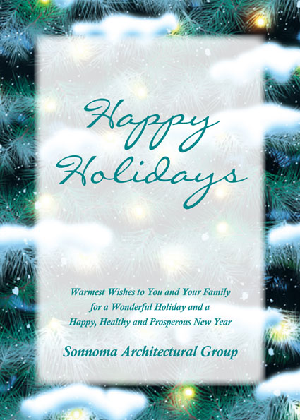 Winter Holidays Theme Holiday Card / This simple winter holiday card is perfect for any crowd.