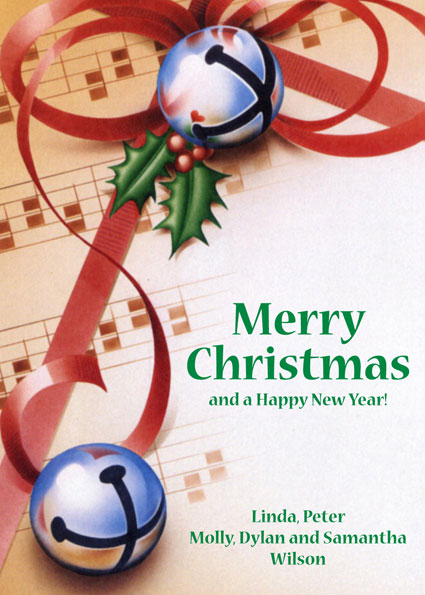 Christmas Bells Theme Holiday Card / This Christmas card is perfect for any crowd.
