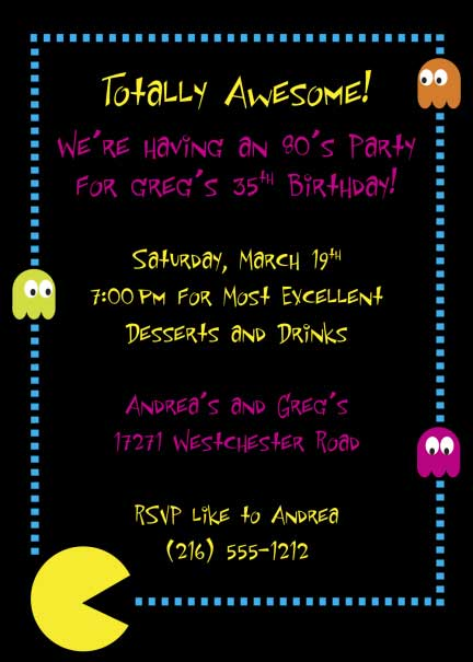 80s Invitation / A totally awesome 80s invitation for your theme party!
