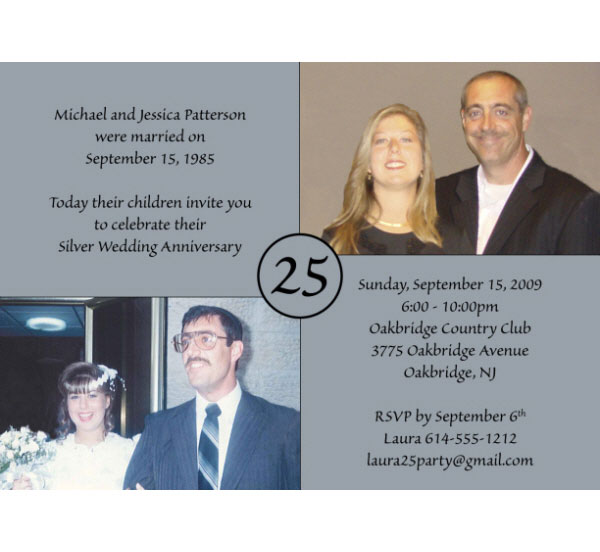 25th Anniversary Invitation / Celebrate a Silver Anniversary!