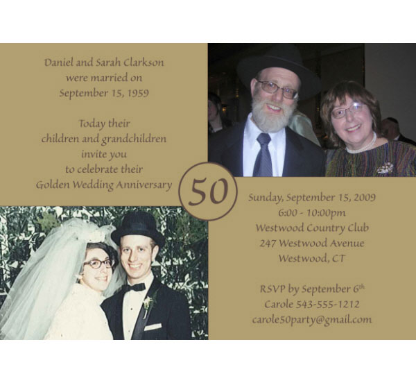 50th Anniversary Invitation / Celebrate a Golden Anniversary!