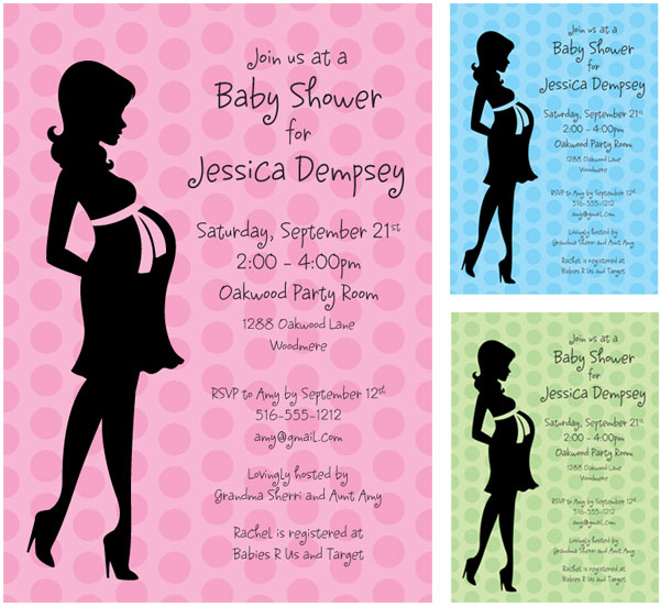 Baby Shower Mommy Invitation / Blue and Pink for those who like secrets!