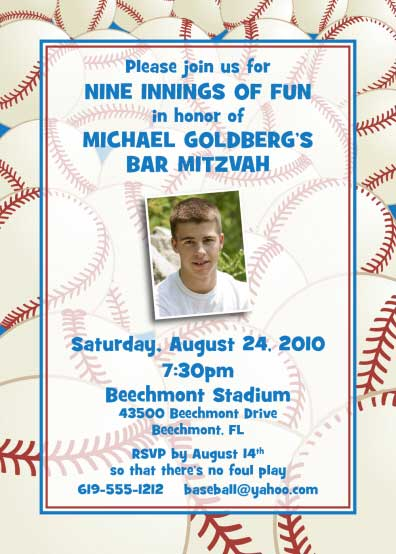 Baseball All Star Invitation / Nothing beats nine innings of fun.
