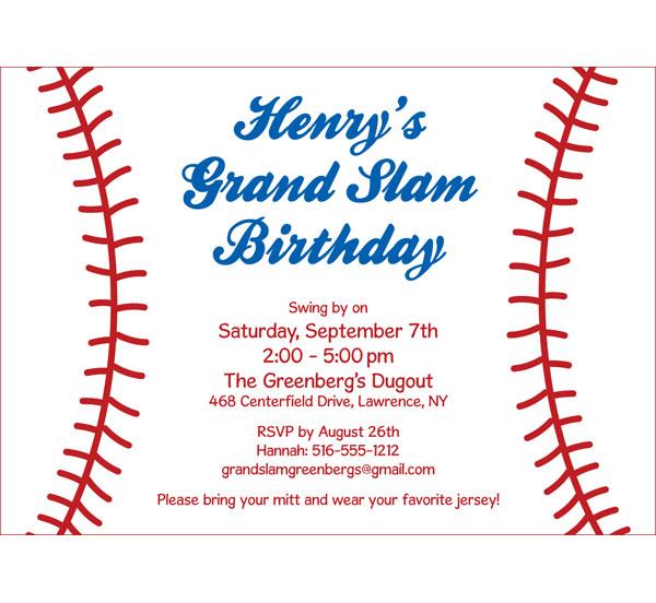Baseball Party Invitation