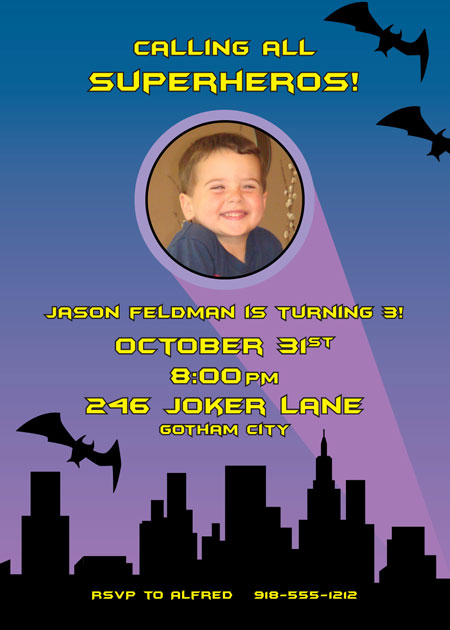 Kapow! Batman Invitation / You are invited to join us in the Bat Cave by these fun boy's birthday party invitations with a Batman theme!