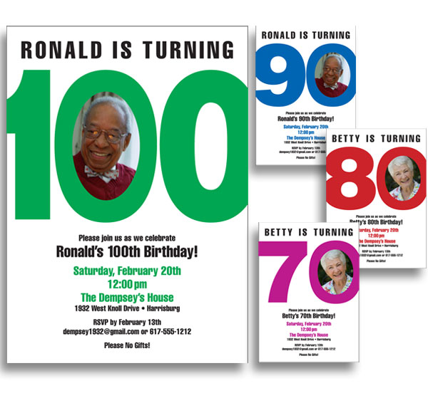 Birthday Photo Milestone Invitation