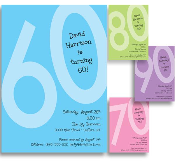 Birthday Age Invitation