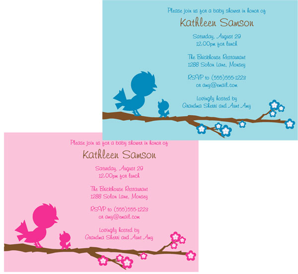 Baby shower baby bird baby shower invitation filmwisefo Image collections
