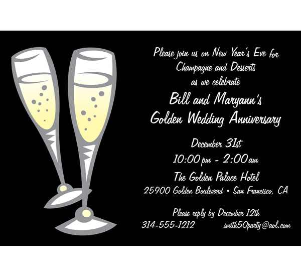 Champagne Toast Invitation / Having a bit of the bubbly at your event?