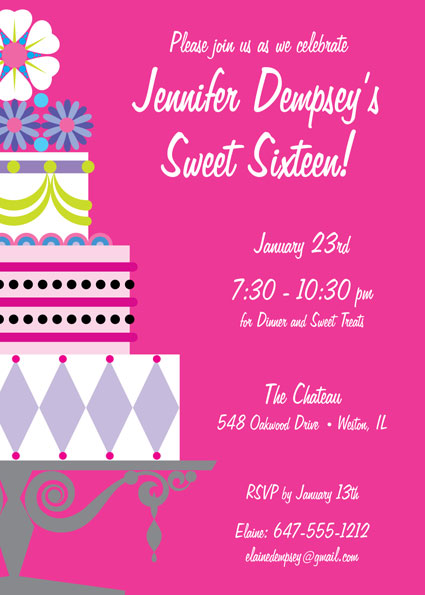 Birthday cake sweet 16 theme candy bar wrapper birthday cake sweet 16 invitation stopboris Gallery