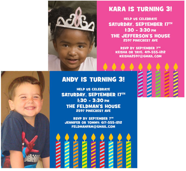 Birthday Candles Photo Invitation / Get ready to blow out the birthday candles.