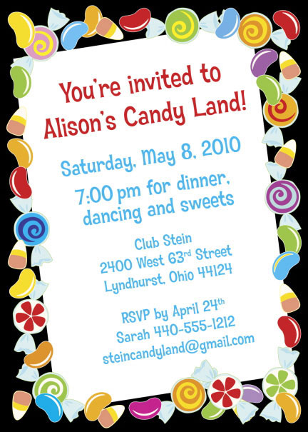 Candy Party Invitation / Candy and kids. What could be more fun?