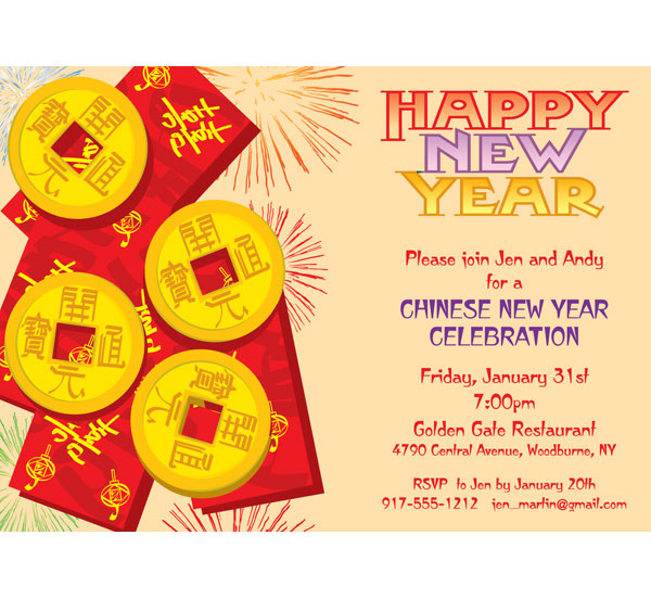 New Years, A Chinese New Year Invitation / Perfect for a Chinese New Year Party!