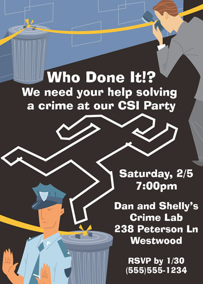 CSI Theme Invitation / A great CSI theme invitation
