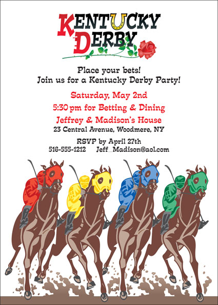 Kentucky Derby Party Invitation / Ready for the races!