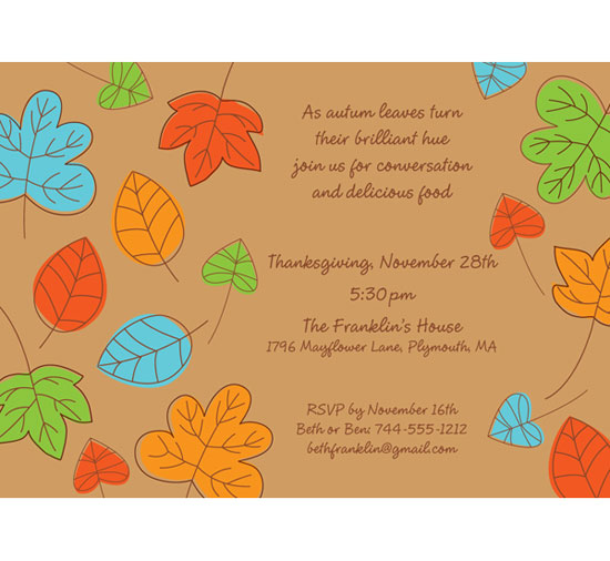 Party  Thanksgiving Invitations