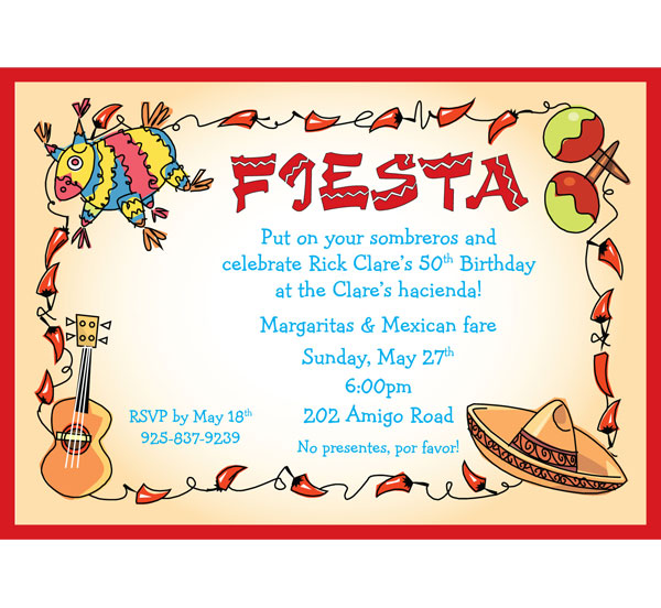 fiesta party invitations, invitation samples