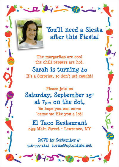 Fiesta Party Invitation / The margaritas are cold and the chili peppers are hot!