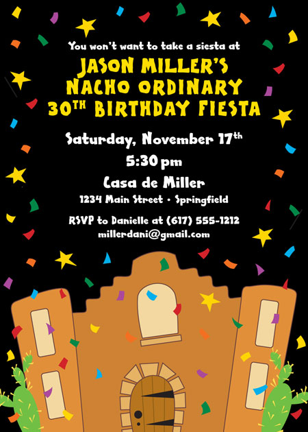 A Fiesta Bash Invitation