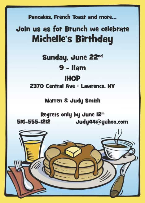 Party411 Pancake Breakfast Fundraiser Party Ideas and Tips – Pancake Party Invitations
