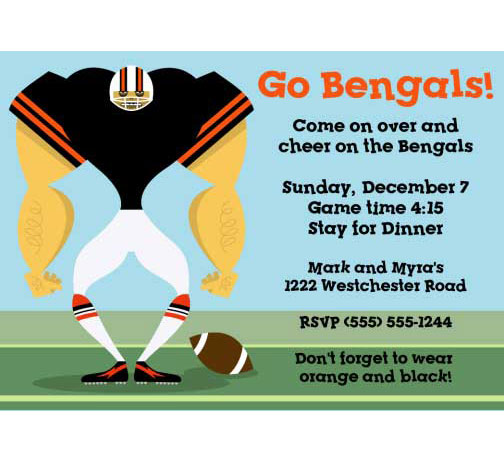 Cincinnati Begals Party Invitation