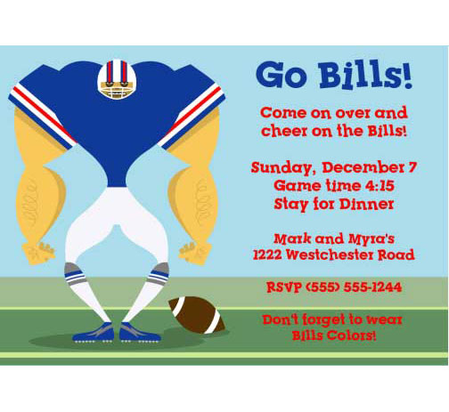 Buffalo Bills Party Invitation