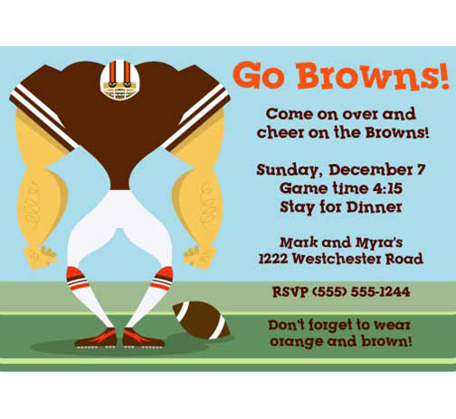 Cleveland Browns Party Invitation