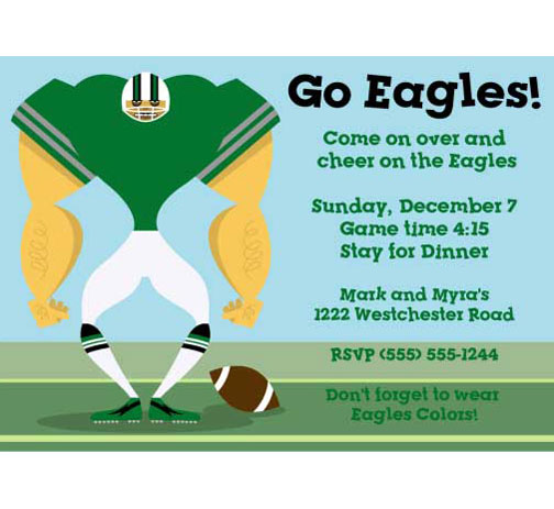 Philadelphia Eagles Party Invitation