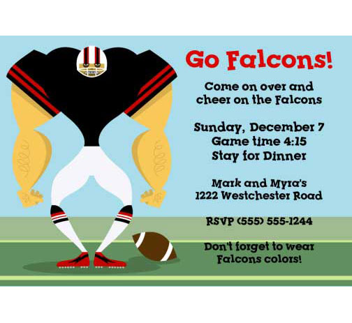 Atlanta Falcons Party Invitation