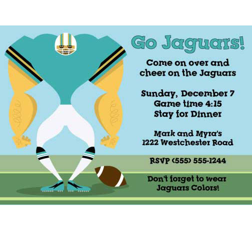 Jacksonville Jaguars Party Invitation