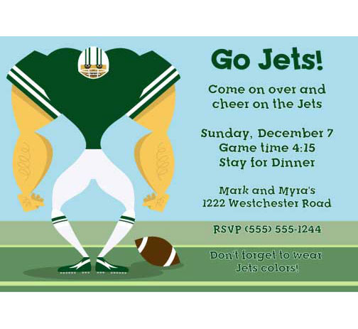 New York Jets Party Invitation