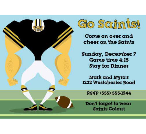 New Orleans Saints Party Invitation