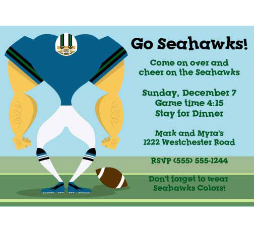Seattle Seahawks Party Invitation