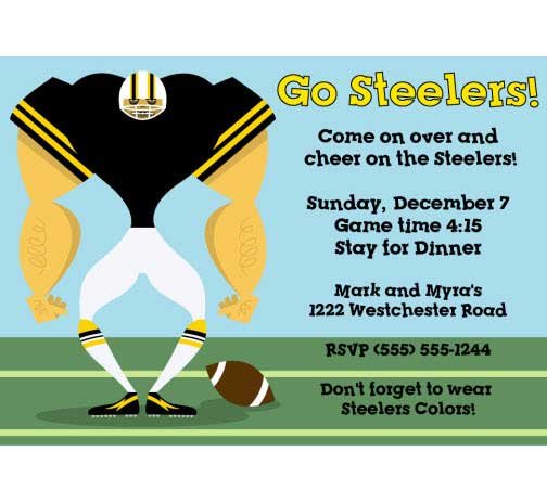 Pittsburgh Steelers Party Invitation