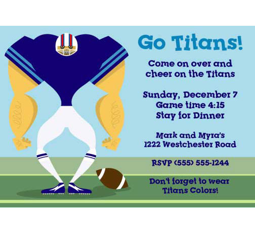 Tennessee Titans Party Invitation