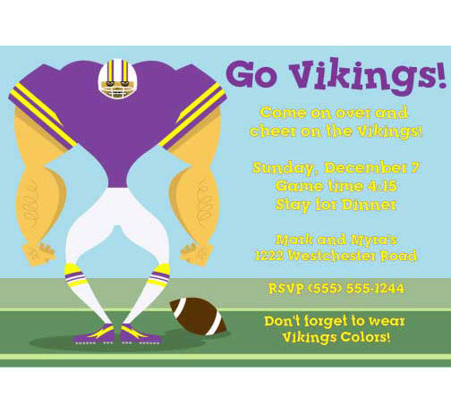 Minnesota Vikings Party Invitation