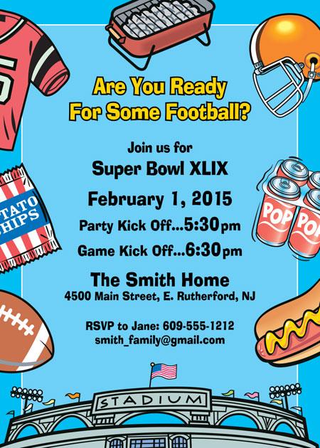 Football Stadium Party Invitation